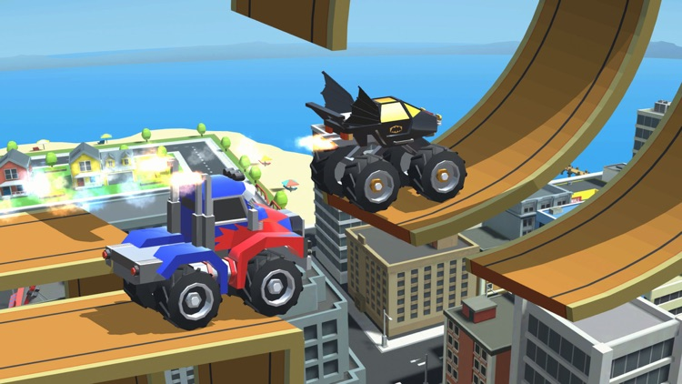 Stunt Racing Car - Sky Driving screenshot-0