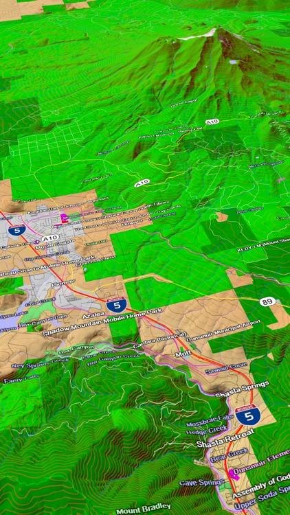 Scenic Map Western USA screenshot-3
