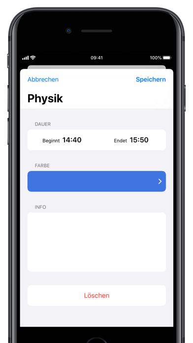 Screenshot for Stundenplan Deluxe in Germany App Store