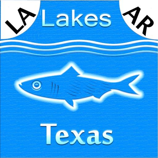Texas-LA-AR: Lakes & Fishes