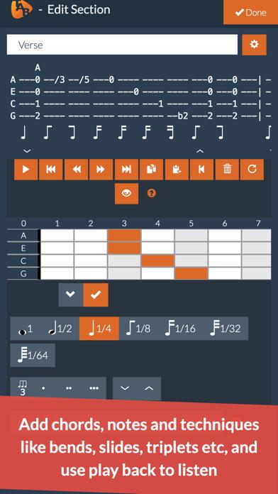 Ukulele Notepad - Tab Editor screenshot three
