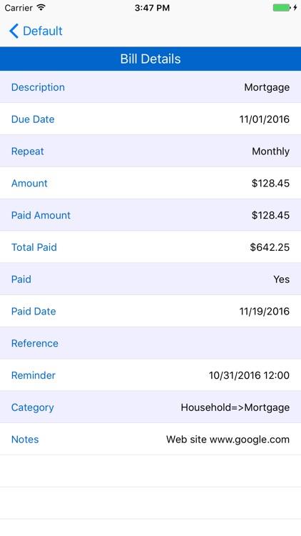 MoBill Budget screenshot-4