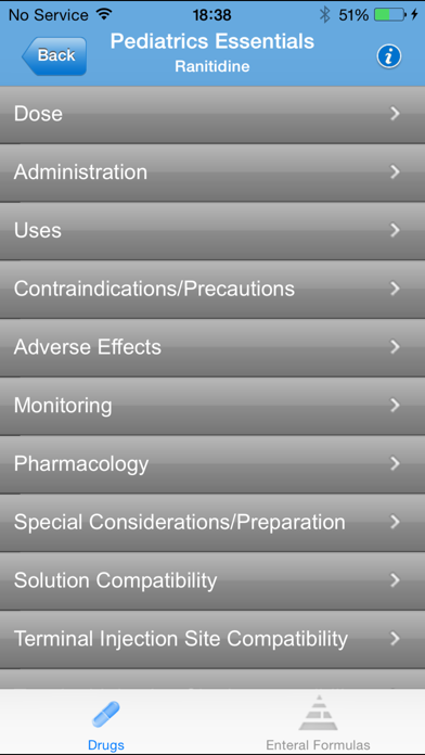 IBM Micromedex Pediatrics Screenshot