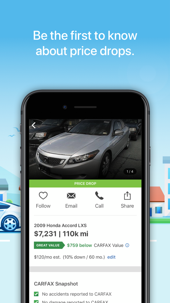 CARFAX Find Used Cars for Sale App for iPhone - Free Download CARFAX