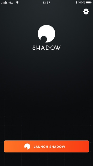 Screenshot from Shadow App