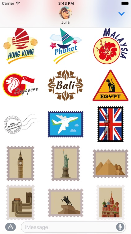 Travel Stickers – Holiday Away