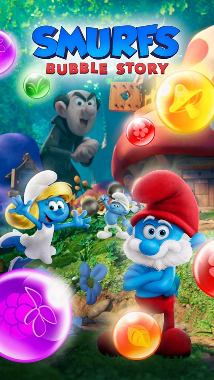 Smurfs Bubble Shooter Game screenshot-5