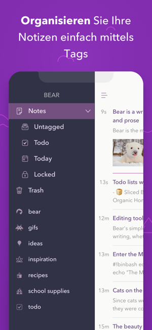 ‎Bear - Private Notizen Screenshot