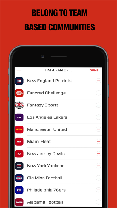 Fancred - Your only sports app screenshot