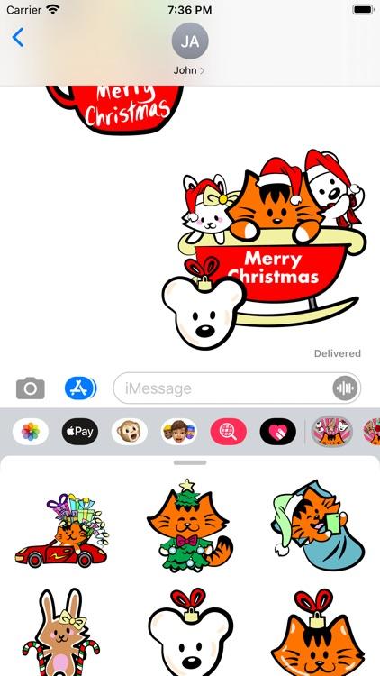 Kikimoji Cute Christmas screenshot-3