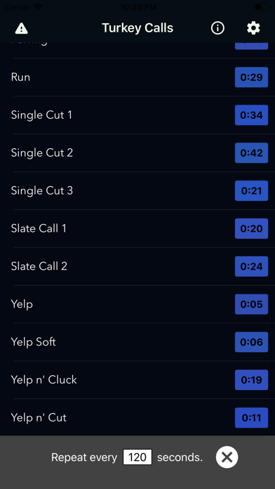 Turkey Call App Screenshots