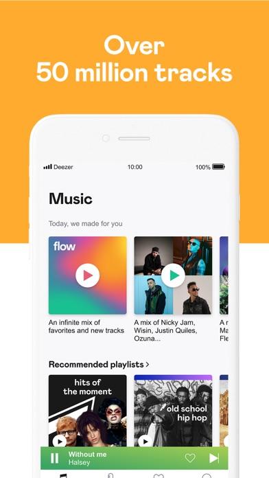 Deezer review screenshots