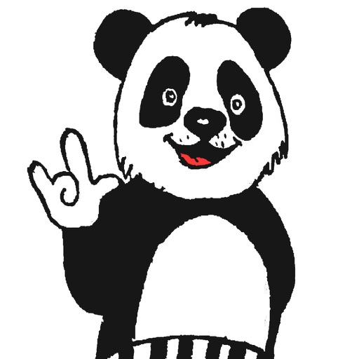 Panda with character