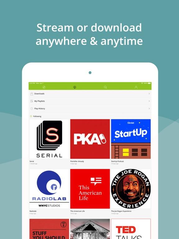 Podbean Podcast App screenshot