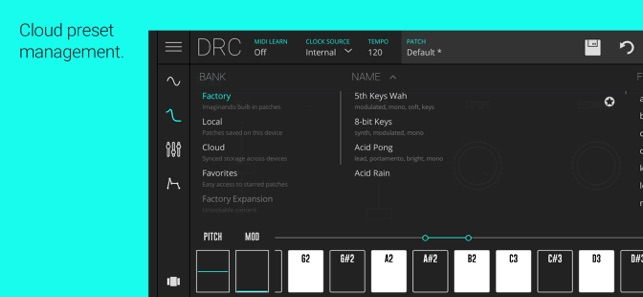 DRC - Polyphonic Synthesizer on the App Store