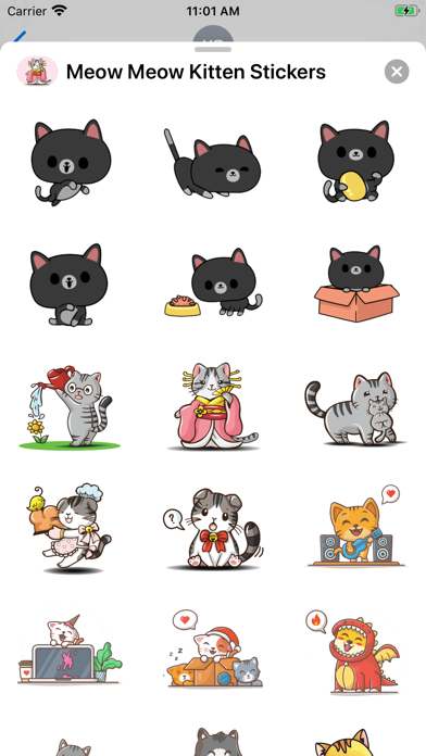 Meow Meow Kitten Stickers screenshot 1