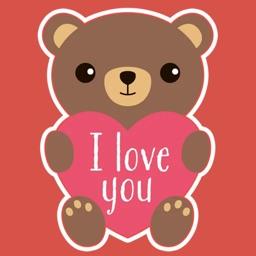 Valentines Day : love stickers