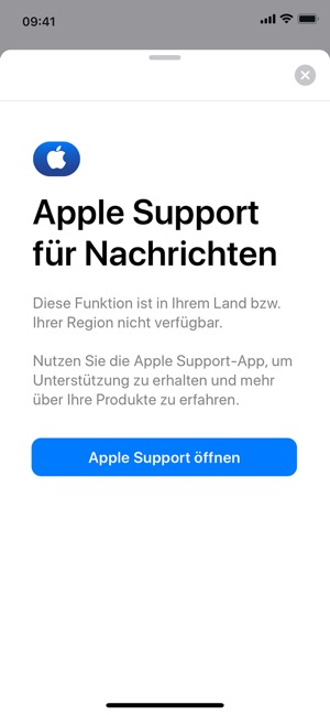 Apple Support Screenshot