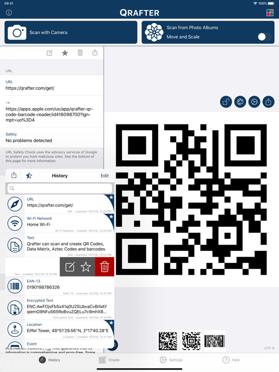 Qrafter Pro - QR Code Reader Screenshots