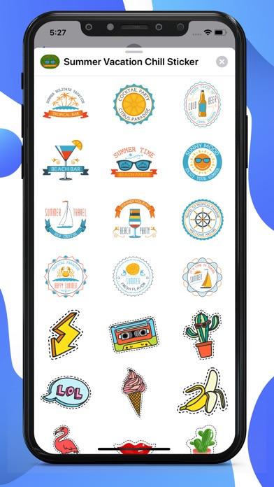 Summer Vacation Chill Stickers screenshot 2