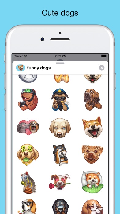 Funny dogs - emoji stickers screenshot 2