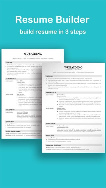 Resume and CV Builder