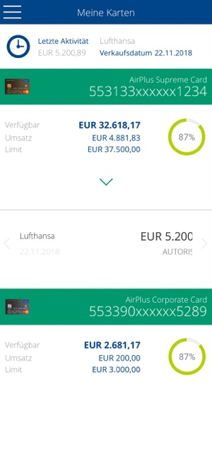airplus card control