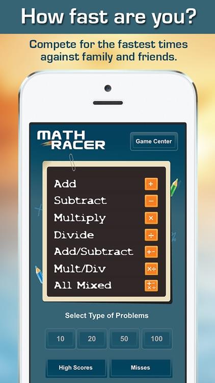 Math Racer Deluxe screenshot-0