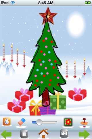 A Christmas Coloring App - náhled