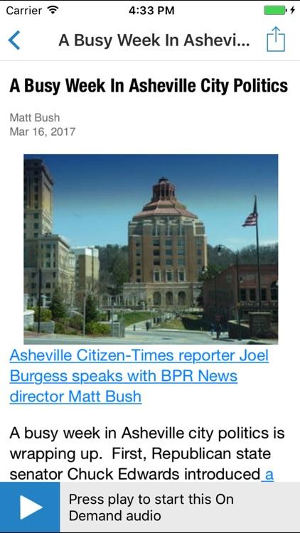 Blue Ridge Public Radio App screenshot-4