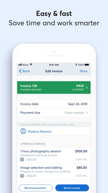 Invoice by Wave screenshot-2