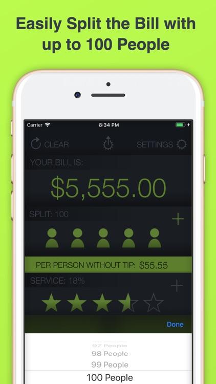 Tip Calculator % Tap Tip screenshot-3