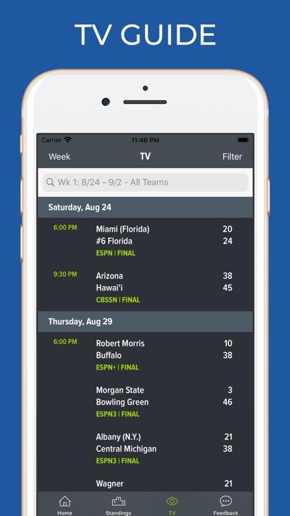 Tulsa Football Schedules screenshot-6