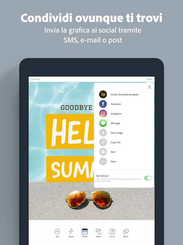 Adobe Spark Post Su App Store
