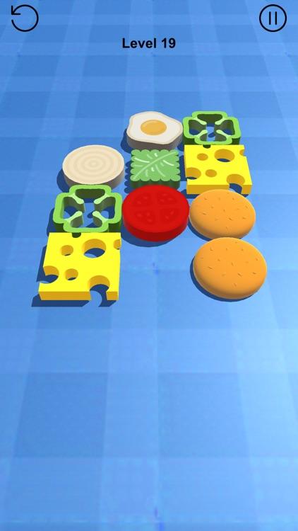 Stump Puzzle 3D - Burger Stack