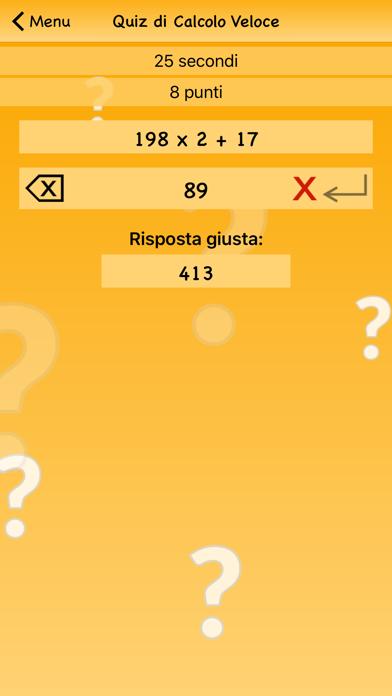 Screenshot of Quiz di Calcolo Veloce4