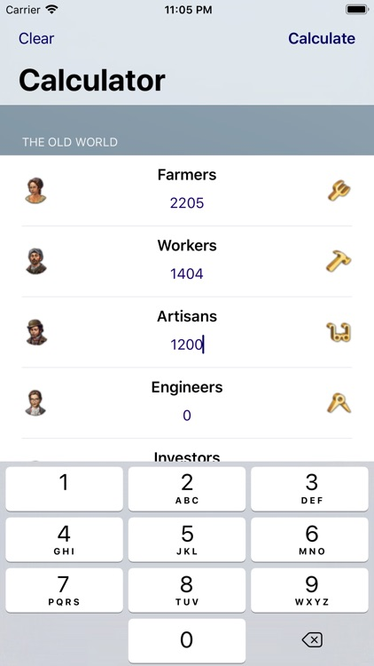 Production Calc. for Anno 1800