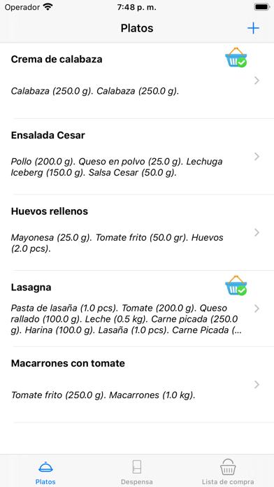 MiMenúSemanal screenshot #1