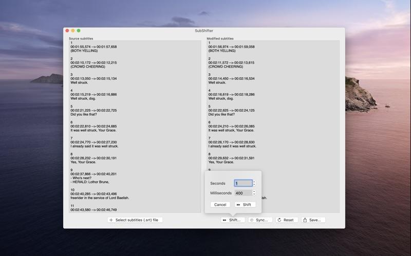 SubShifter: Shift subtitles