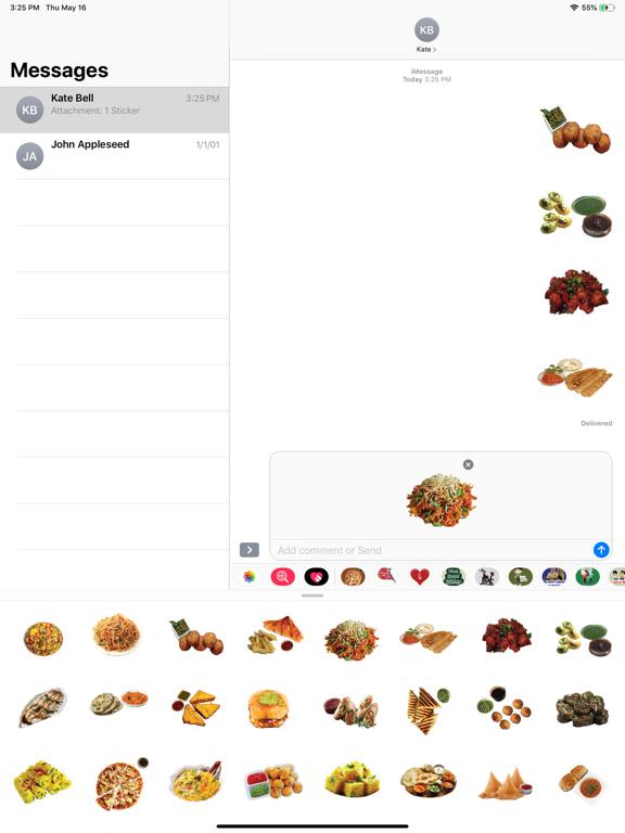 Indian Tasty Food Stickers screenshot 5