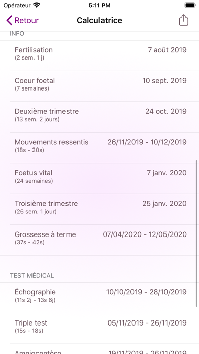 messages.download Calendrier de grossesse software