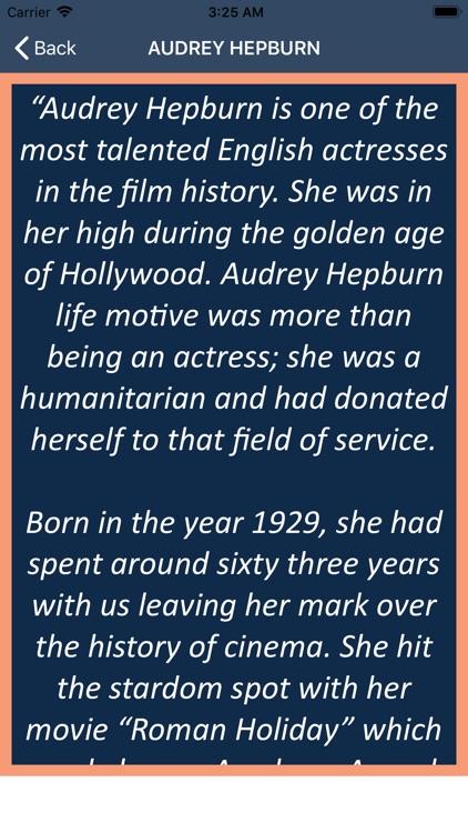 Audrey Hepburn's Life Guide screenshot-5