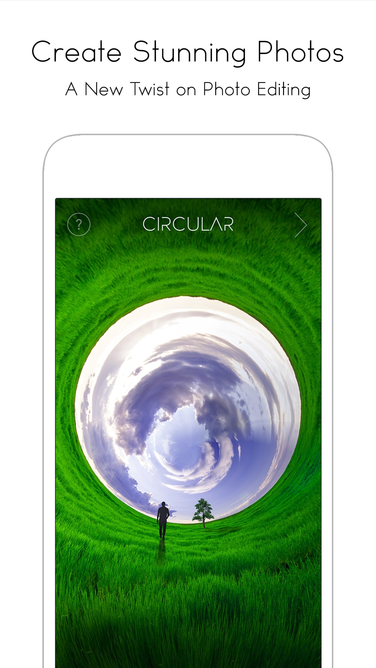 Screenshot do app Circular Tiny Planet Editor