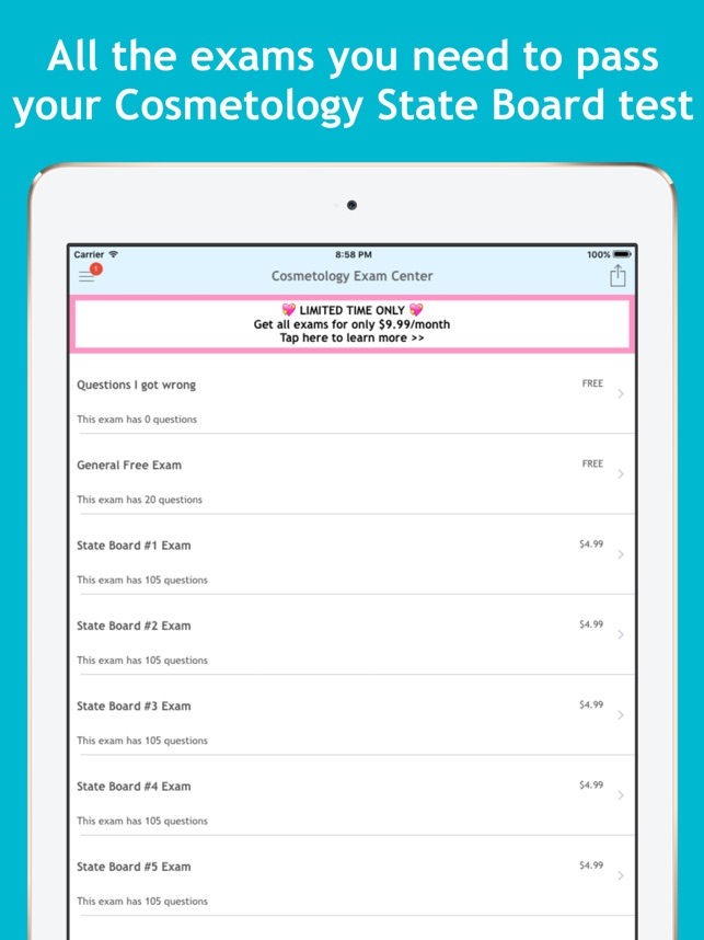Cosmetology Exam Center on the App Store