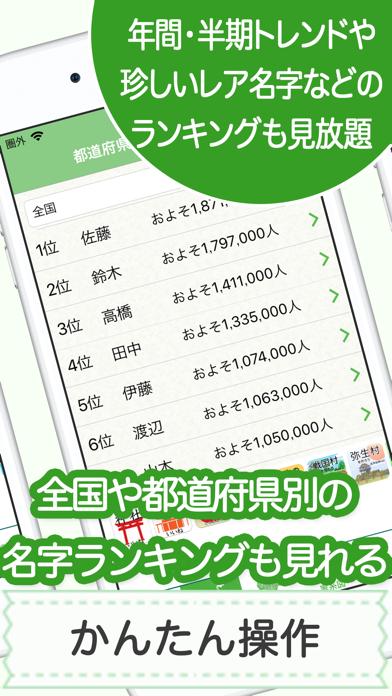 名字由来net 〜全国都道府県ランキングや家紋家系図 ScreenShot4