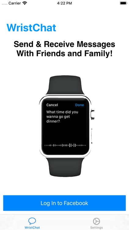 WristChat for Facebook