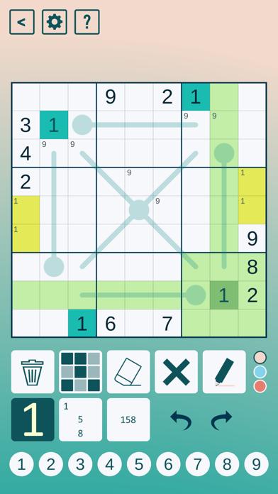 Thermo Sudoku screenshot 2