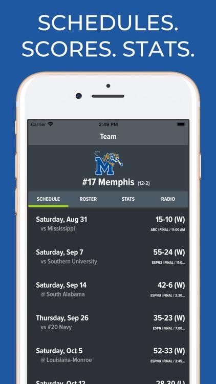 Memphis Football Schedules