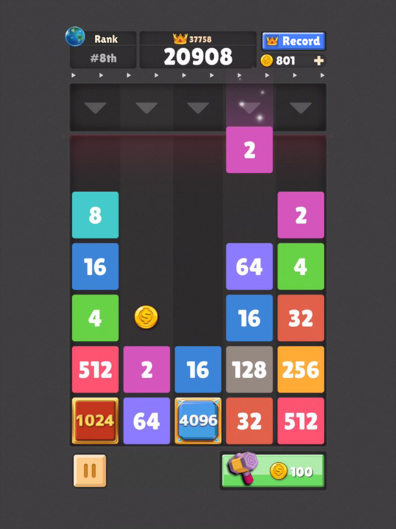 Drop The Number : Merge Puzzle screenshot 8