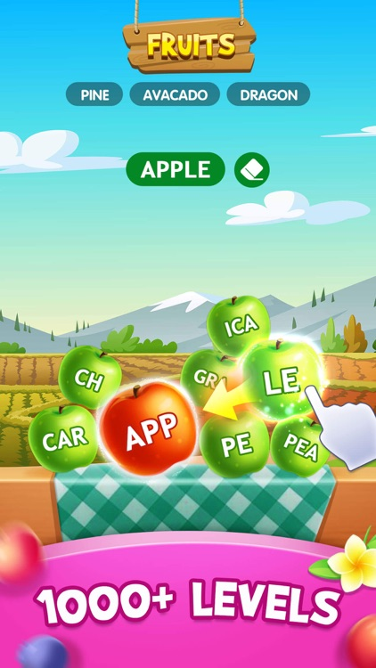 Word Fruit: Relaxing mind game